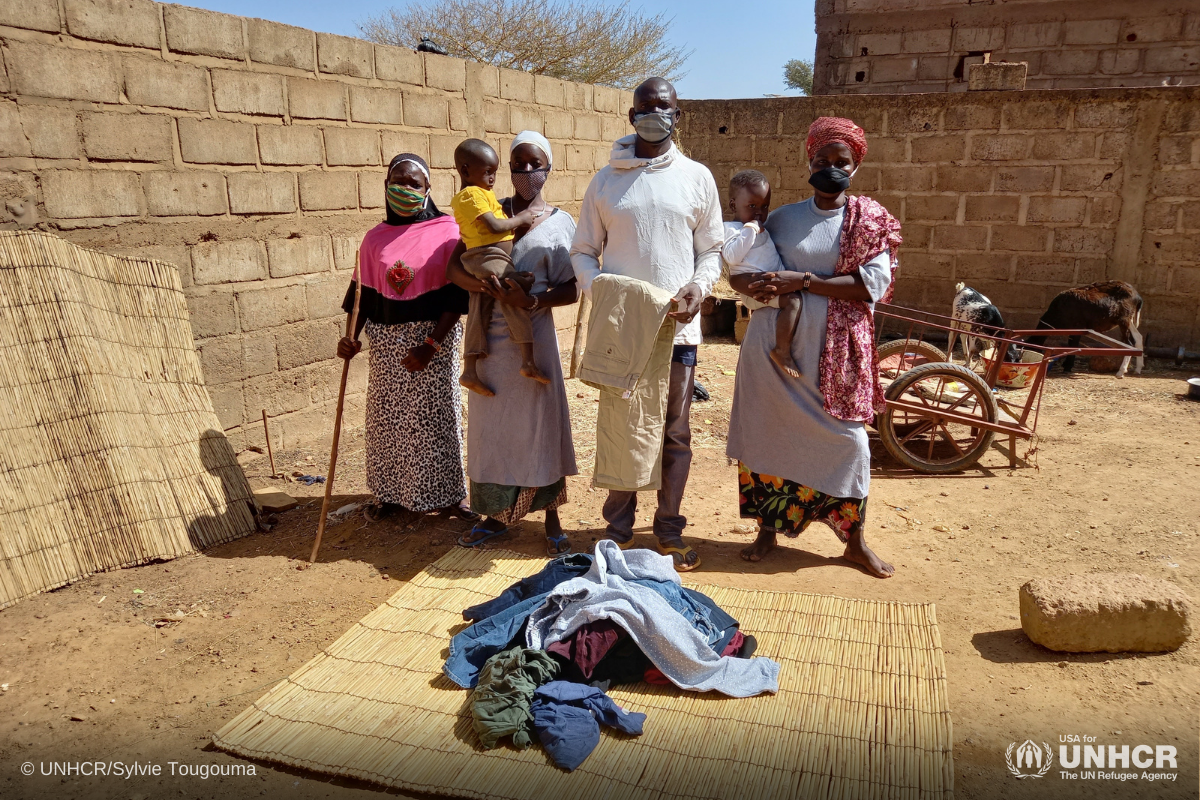 Displaced family In Burkina Faso receives clothing from Gap in-kind donation